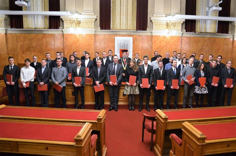 Podelitev diplom na FRI Ljubljana