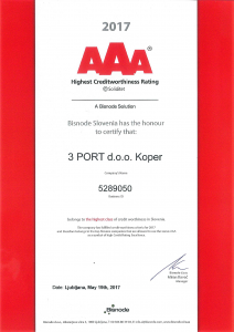 Certificate Creditworthiness AAA 2017 3 PORT