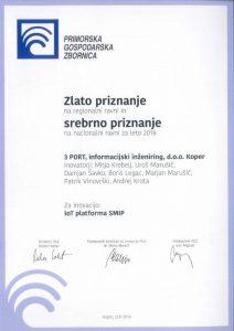 slika regijskega priznanja PGZ za SMIP 2018